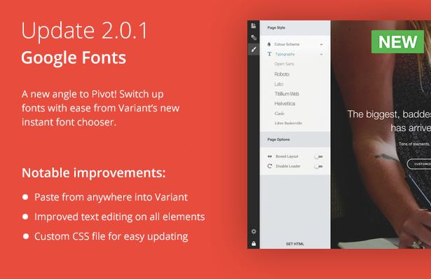 Pivot 2.0.1 Update