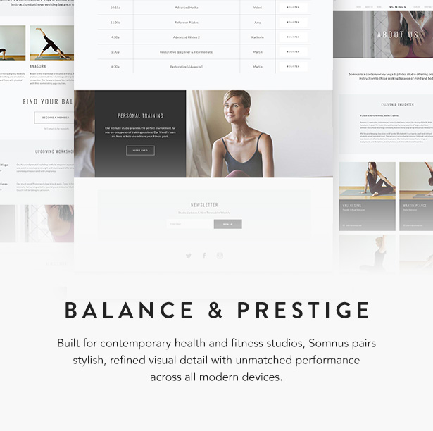 Somnus yoga studio and fitness studio template